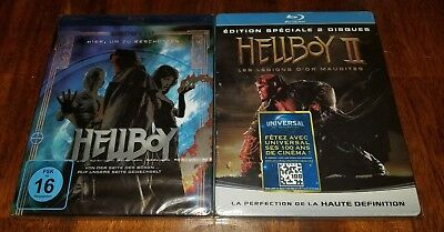 Hellboy and 2 II Blu Ray Steelbook (FNAC w/booklet) BRAND NEW SEALED REGION B