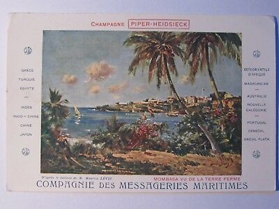 05A227 Cpa Compagnie Des Messageries Maritimes Publicitaire Champagne Piper