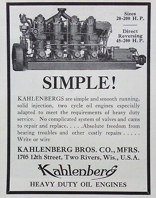 1931 Ad(H3)~Kahlenberg Bros. Co. Two Rivers, Wisc. Marine Engine Mfg. Co.