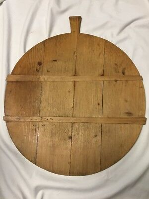 Early Primitive Large Round Bread or Dough Board ~ PR383