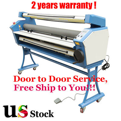 """US Stock 55"""" Full-auto Low Temp. Wide Format Cold Laminator with Heat Assisted"""