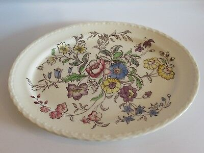 Vernon Kilns MAY FLOWER Oval Ceramic Platter - Vintage - EUC