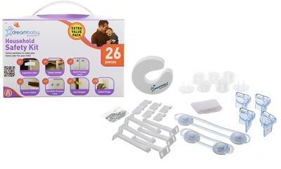 Dreambaby Household Child Baby proofing Safety Kit 26 Piece