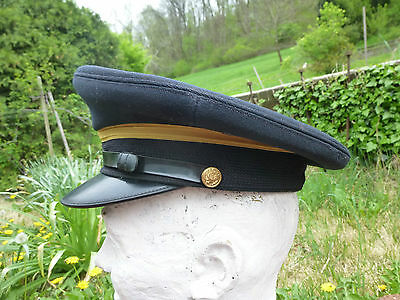 Vintage US Military Visor Hat Crusher Cap Post WWII ? Army Air Corps ?