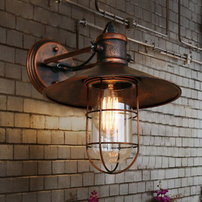 Industrial Retro Vintage Rustic Single Light Metal Copper Nautical Wall Sconce