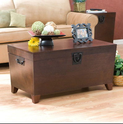 Storage Trunk Table Chest Coffee Cocktail Wood Modern Rustic Pine Blanket Box