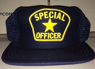SPECIAL Officer Mesh vintage Hat Police Law Enforcement Security SLEO Military !