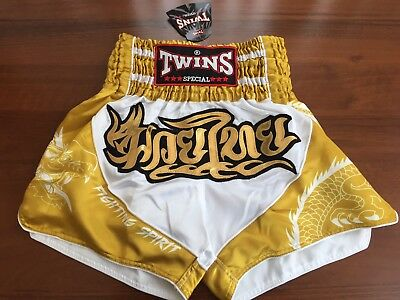 """New In! """"Dragon"""" Twins Special Muay Thai/Boxing Shorts Adults Size M"""