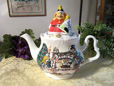 Alice In Wonderland Christmas Tea Party Teapot - 150Th Anniv. By Paul Cardew