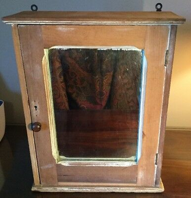 Antique Farm Hand Built Medicine Cabinet Pennsylvania Primitive Solid