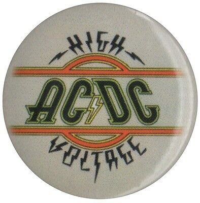 Official ACDC High Voltage logo 1.5 inch button pin badge