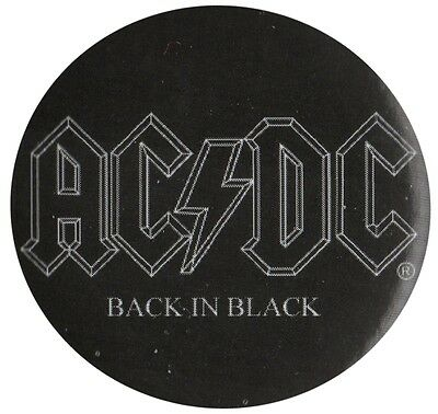Official ACDC Back in Black logo 1.5 inch button pin badge