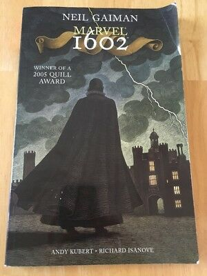 Marvel 1602 by Neil Gaiman (2006, Paperback, Special) Good Book