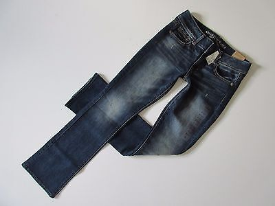 NWT American Eagle Outfitters Kick Boot in Homespun Tinted Stretch Jeans 2 x 31