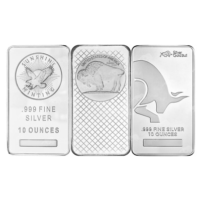 10 oz Pure Assorted Silver Bar