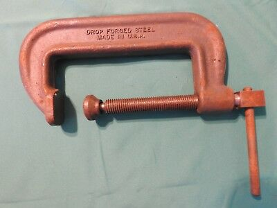 """Vintage Wiltons #106 C Clamp,Made in USA  6"""" opening"""