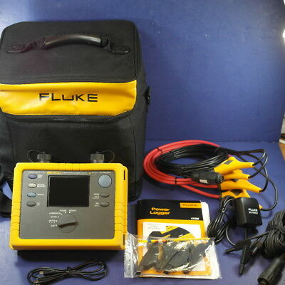 Fluke 1735 Power Logger Analyst, Mint Condition! Case and Accessories!