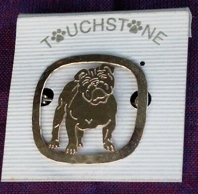 """Touchstone Jewelry, a 1 1/4"""" Pin for the Bulldog Fan"""