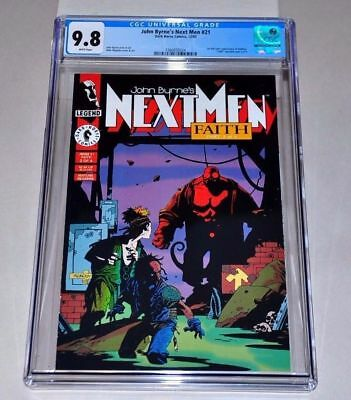 John Byrne's Next Men #21 (Dec 1993, Dark Horse) 1st Hellboy CGC 9.8