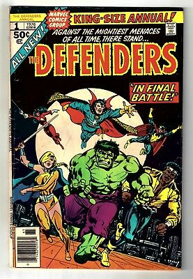 The Defenders Annual #1 (1976, Marvel) Gerber story, Ed Hannigan cover VG- (3.5)