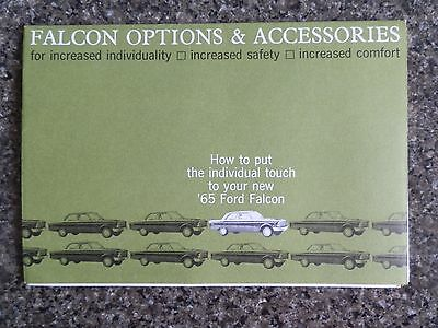 1965 Xp Ford Falcon Options And Accessories Sales Brochure 100% Guarantee