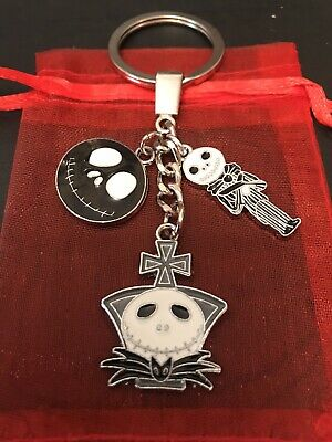 JACK SKELLINGTON Nightmare Before Christmas CHARM Strong KEYCHAIN Keyring BAG