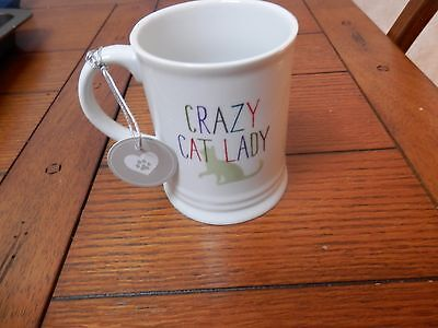 Crazy Cat Lady Mug, New With Tags, Fringe  Studio