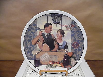 Norman Rockwell Plate 1993 Mothers Day MIB w/COA