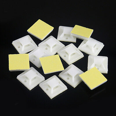 New Self Adhesive Cable Tie Mounts Clips for Wire Cable Conduit Tubing Sleeving