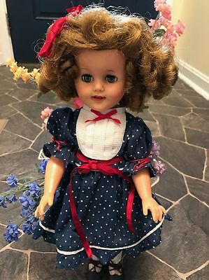 Vintage Ideal Shirley Temple Vinyl Doll ST-15-N   FROM 1950'S!