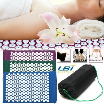 Massage Acupressure Mat Yoga Sit Lying Mats Release Pain Stress Relax + Bag