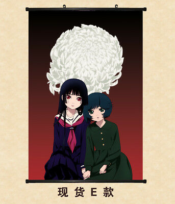 Japanese Anime HELL GIRL Enma Ai Scroll Poster Vintage Print Wall Decals 60*90CM