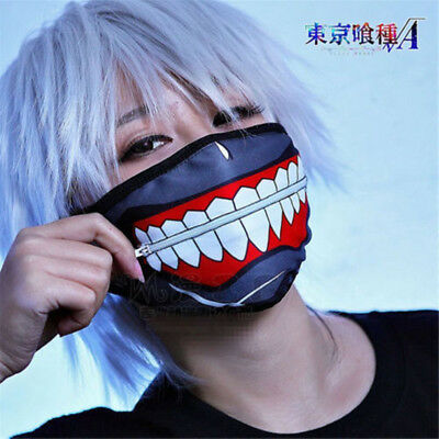 New Kaneki Ken Face Masks Zipper Cycling Anti-Dust Anime Tokyo Ghoul Cos Gifts
