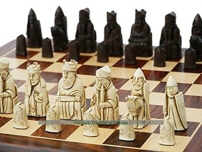 Isle of Lewis Chess Set (cream and brown, board not included). Berkely Chess