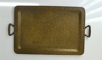 Antique Moscow Mark Russian Tray  Brass/Cupper Hammered  w/Handles