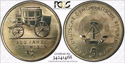 East Germany 1990-A 5 Mark, 500 Years Postal Service, PCGS MS67