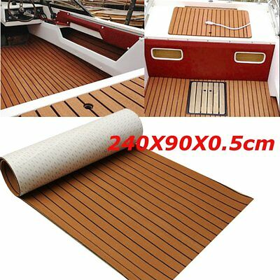 240*90cm Self-Adhesive Brown Marine Flooring Teak EVA Foam Boat Decking Sheet