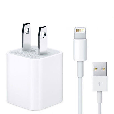 Authentic USB Lightning Cable Apple iPhone Charger Adapter 5 6 6s 7 8 / 3FT, 6FT