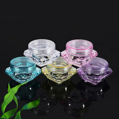 10PCS Clear Fashion Cosmetic Sample jar Container Pot Small Empty Box Travel NEW