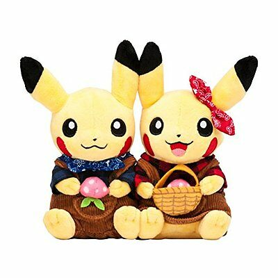 Pokemon Center Original stuffed Monthly pair Pikachu 2016 October