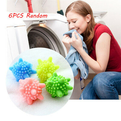6pcs Decontamination Laundry Ball Anti-Winding Washing Dryer Keep Fresh Softener