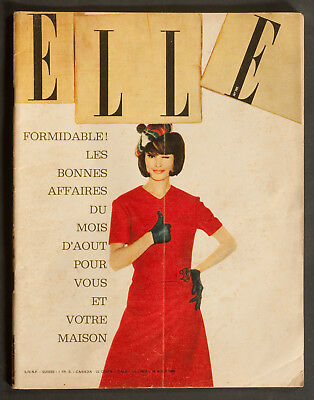 'elle' French Vintage Magazine Holiday Issue 19 August 1960
