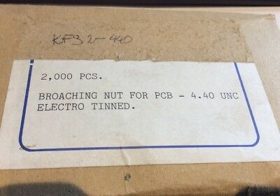 NOS 4-40UNC PCB Broaching Nut KFS2-440 for PCB Mounting qty 1498 (BX)