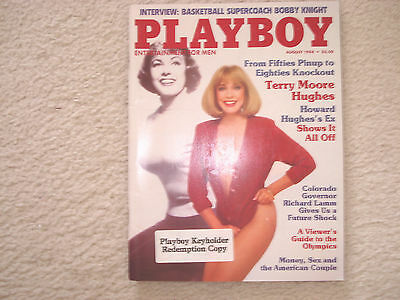 Four Playboy Magazines 1984-1985 Keyholder Redemption Copies Centerfold Intact