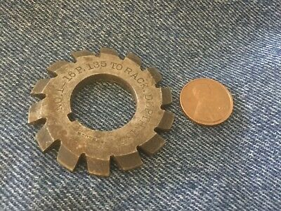 brown and sharpe B & S involute cutter # 1 to 16 R 135 to rack 2 inch x 7/8 id