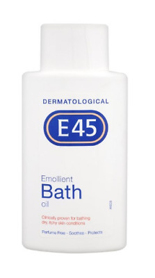 E45 Emollient Bath Oil 500ml - For Dry, Itchy Skin Conditions Perfume Free