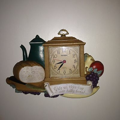 Vintage Burwood  Kitchen Family Wall Clock, New Haven Working, 1987