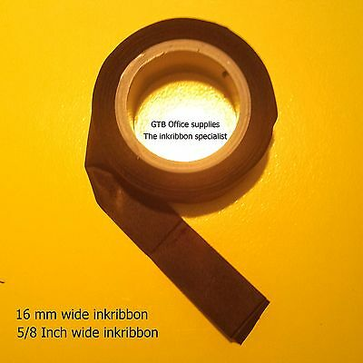 New fresch ink Ribbon for vintage Typewriters wide = 16mm, 5/8 inch  black