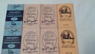 Prof. Beery's HORSE TRAINING Books Booklets Equestrian LOT OF TWELVE