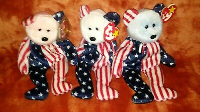 ty beanie babies spangle aet of 3